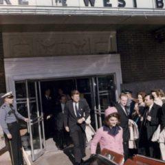JFK & Jackie leaving Hotel Texas