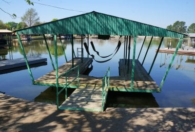 covered dock with lift