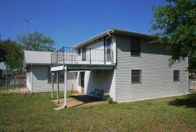 Bonus room over garage with deck