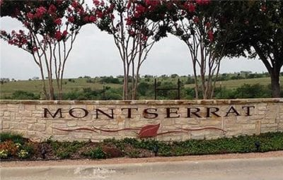 Montserrat West Fort Worth Estates